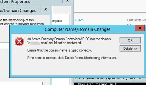 active directory domain controller could not be contacted fix