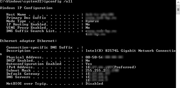 active directory domain controller could not be contacted ipconfig