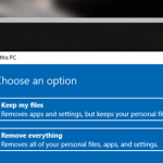how to factory reset windows 10 device