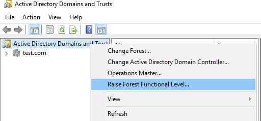 update active directory schema