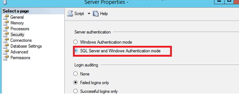 microsoft sql server error 18456 authentication