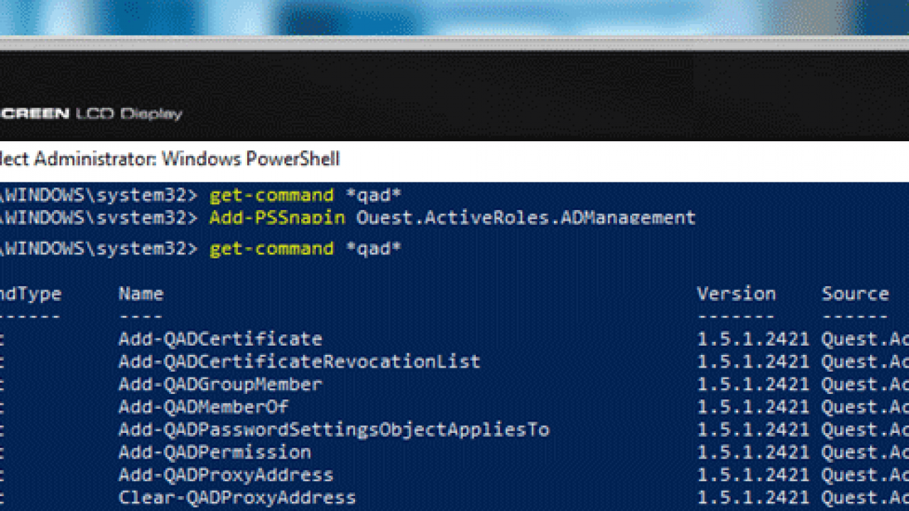 Using Quest Active Directory Cmdlets for PowerShell – TheITBros
