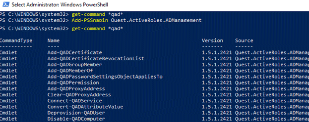 quest ad powershell