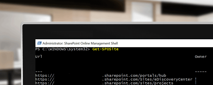 sharepoint online management shell cover