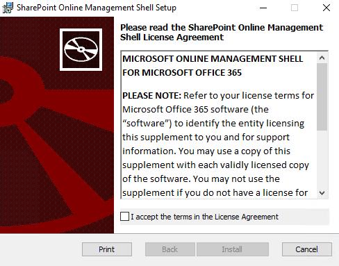 sharepoint online management shell setup