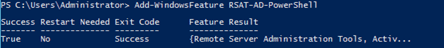 powershell active directory module