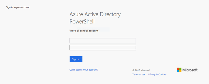 azure AD module for windows powershell