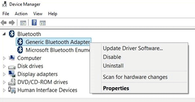 bluetooth not working on windows 10