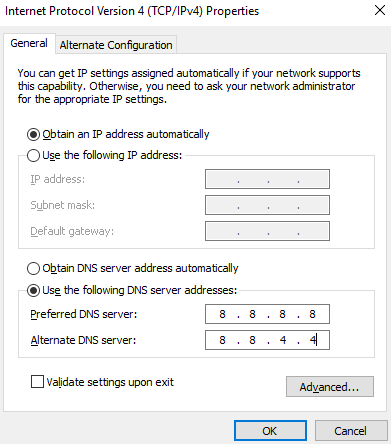 dns server issues windows 10