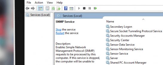 snmp service cover