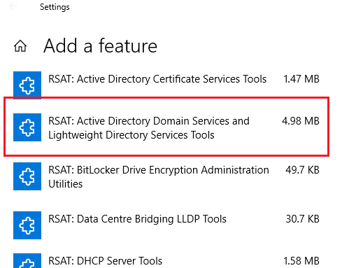 active directory snap in