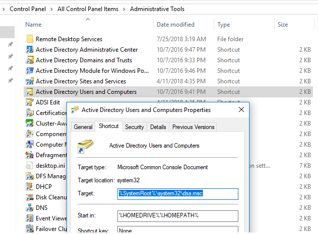 Installing Active Directory Users and Computers MMC Snap-in