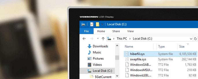 hiberfil sys windows 10