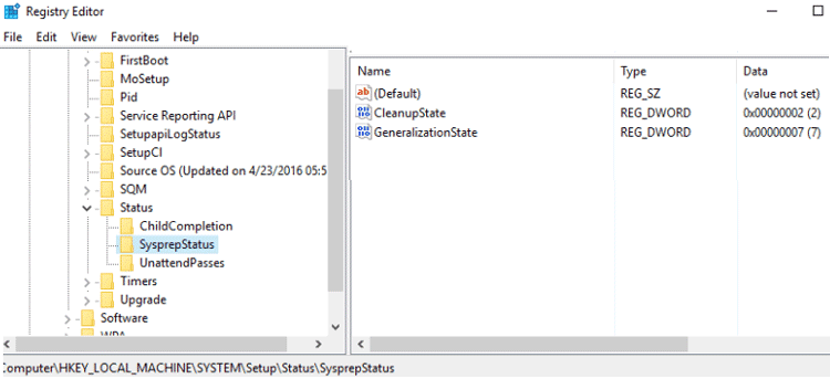 sysprep was not able to validate your windows installation windows 10