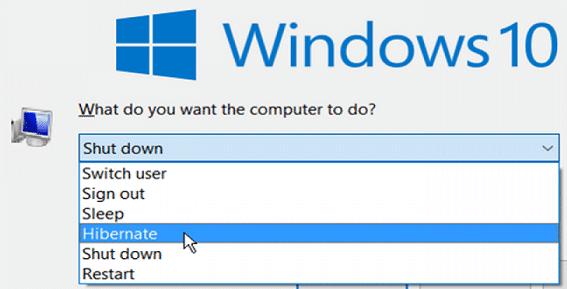 windows hibernate