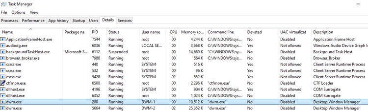 What's the Desktop Window Manager (dwm exe) Process in