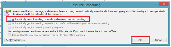 automatically accept calendar invites outlook