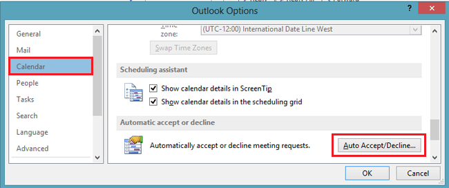 outlook auto accept meeting from specific person