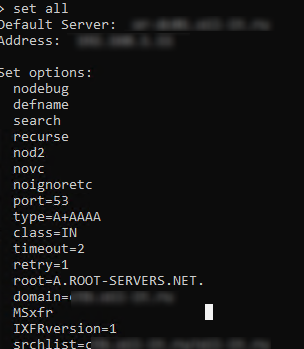 list dns servers in domain