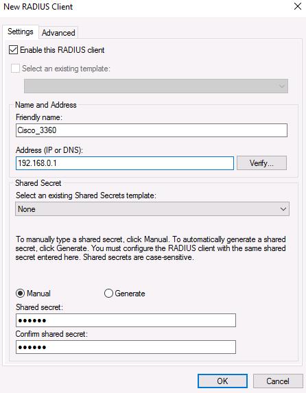 install radius server 2016