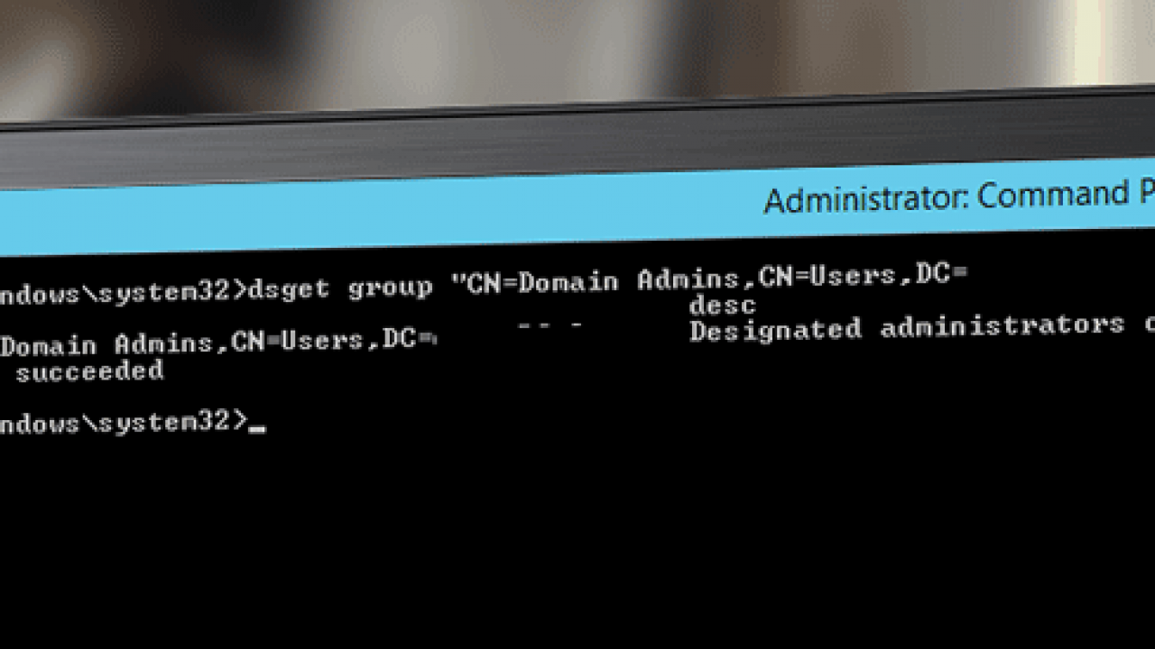Viewing Active Directory Groups Using DSGet Group – TheITBros