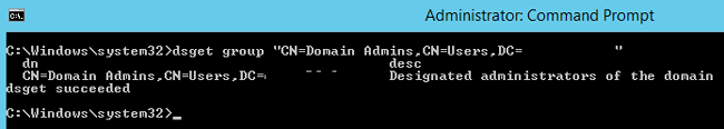 dsget group active directory