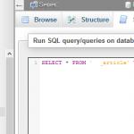 managing mysql database