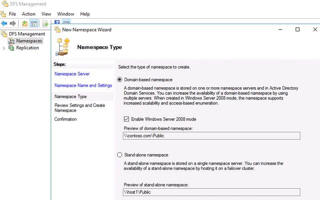 windows server 2016 dfs replication
