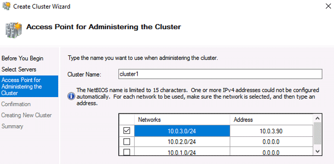 configure failover cluster windows server 2016 step by step