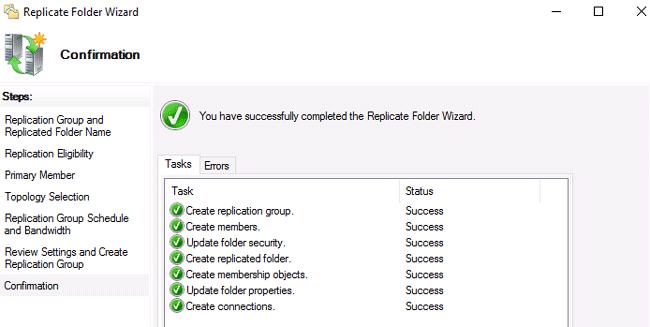 windows 2016 dfs replication