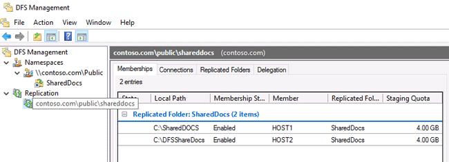 windows server dfs replication
