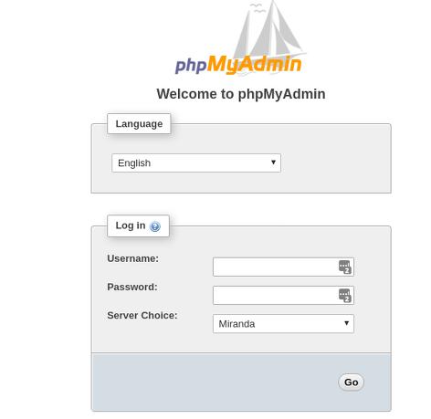 Manage MySQL Database with phpMyAdmin