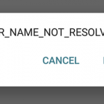 ERR_NAME_NOT_RESOLVED fix