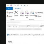 how to unblock unsafe attachments outlook