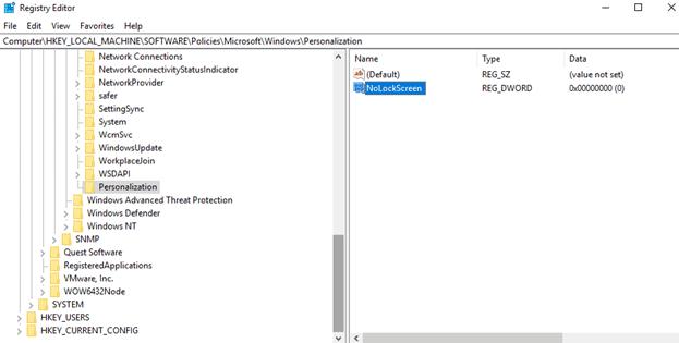 Lock Screen on Windows 10