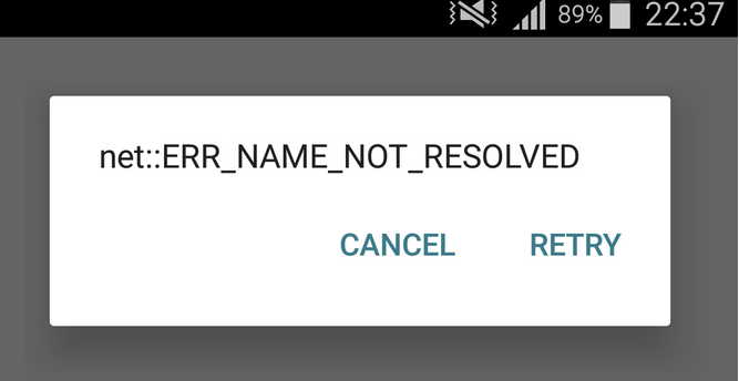 ERR_NAME_NOT_RESOLVED