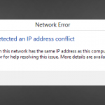 fix windows has detected an ip adress conflict