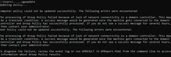 the processing of group policy failed windows attempted to read the file gpt.ini