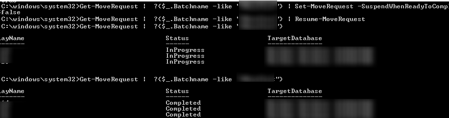 Exchange Mailboxes to Another Database