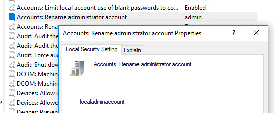 Rename Local Administrator Account