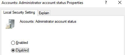 Rename Local Administrator Account windows
