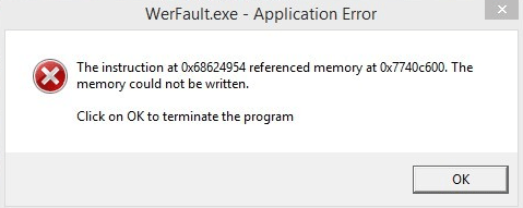 Werfault.exe error