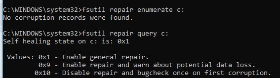 fsutil repair