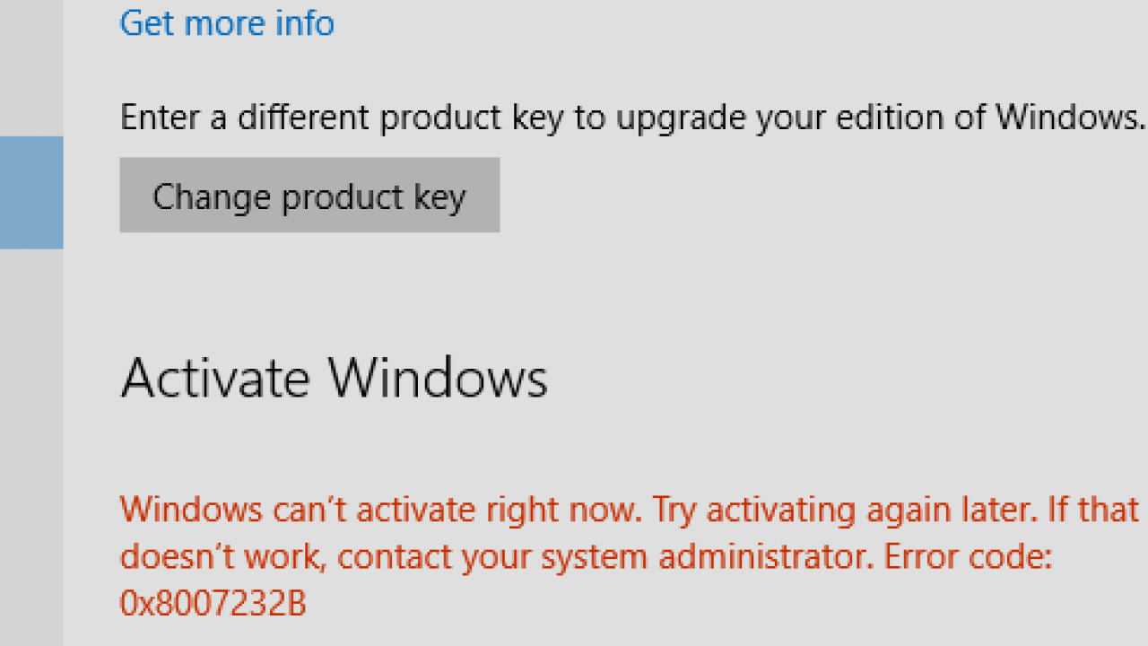 Windows 10 Activation Error: Unable to Reach Windows
