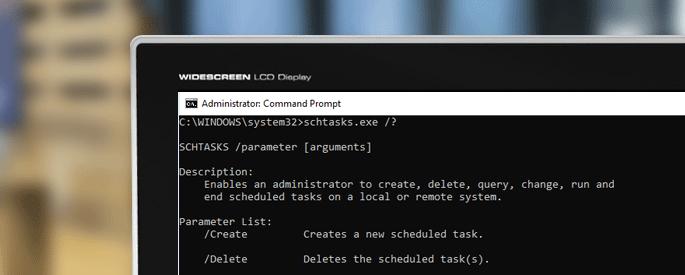 Using Schtasks.exe