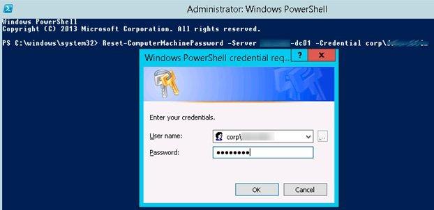 powershell repair domain trust