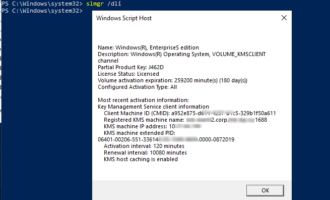 windows 10 kms server