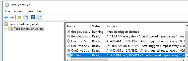Using Schtasks exe to Manage Schedule Tasks in Windows