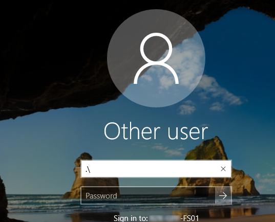 windows 10 login local account