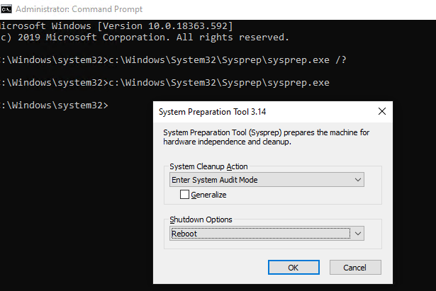 windows 10 sysprep